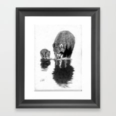 First Fishing Lesson Framed Art Print