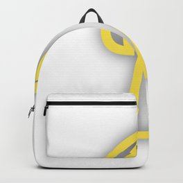 Letter I in Yellow Backpack