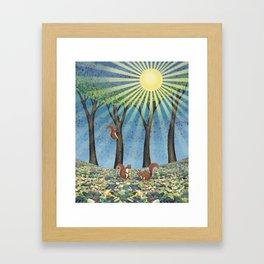 sunshine squirrels Framed Art Print