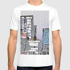 Cityscape six MEDIUM White Mens Fitted Tee
