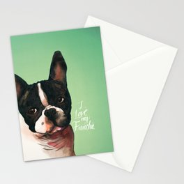I Love My Frenchie Stationery Cards