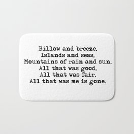 Billow and breeze, islands and seas (Outlander theme) Bath Mat