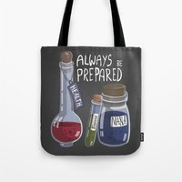alchemy Tote Bags featuring Alchemy Potions by sw4mp rat