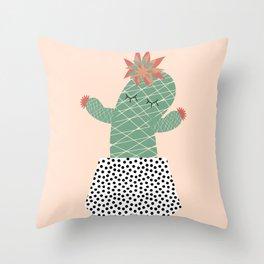 Mrs Succulent Throw Pillow