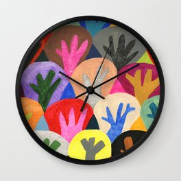 Abstract trees pattern Wall Clock