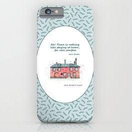 Jane Austen house and quote iPhone Case