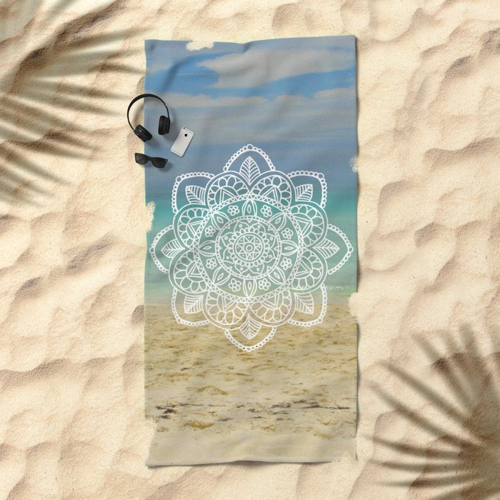 Beach Mandala Beach Towel