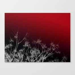 Tree Top-Red Canvas Print
