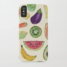 Froot and Veg iPhone X Slim Case