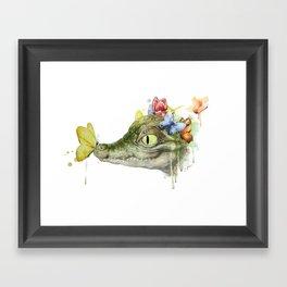 Crocodile Medicine Framed Art Print