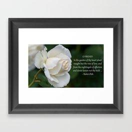 Rose Of Love Framed Art Print