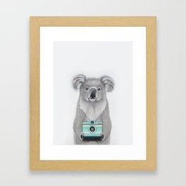 This Koala is a Tourist / Este Koala es un Turista Framed Art Print