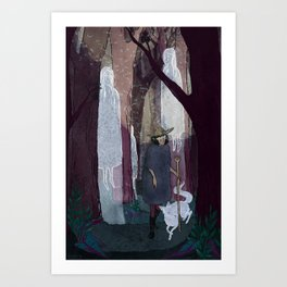 Ghosty Woods Art Print