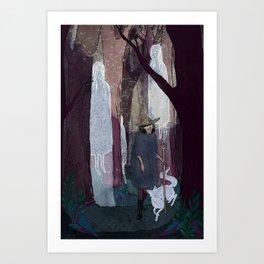 Ghosty Woods Art Print