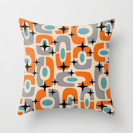 Colorful Mid Century Modern Cosmic Abstract 372 Throw Pillow