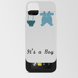 It's a boy. Welcome, baby arrival body suits iPhone Card Case