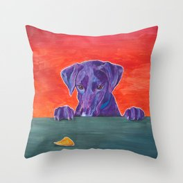 Focus: Resist the Temptation Throw Pillow
