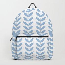 Pale Blue Scandinavian leaves pattern Backpack