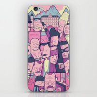 budapest hotel iPhone & iPod Skins featuring Grand Hotel by Ale Giorgini