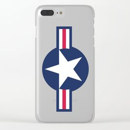 US Airforce style roundel star - High Quality image Clear iPhone Case