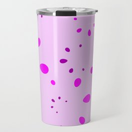 Abstract calm vector with an imitation lilac petals on a pink background. Travel Mug