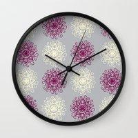 wallpaper Wall Clocks featuring wallpaper by Art Stuff
