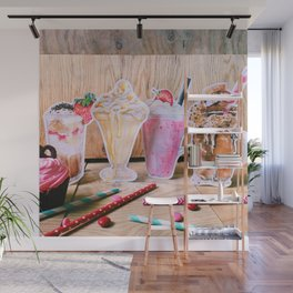 Milkshakes for 4 Wall Mural