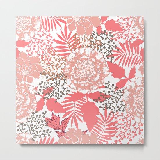 Pink peonies. Metal Print