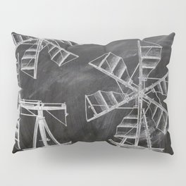 steampunk western country chalkboard art agriculture farm windmill patent print Pillow Sham