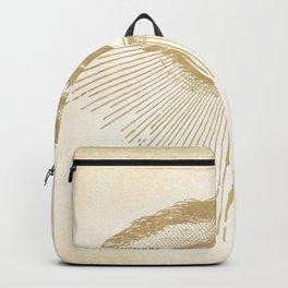 I See You. Vintage Gold Antique Paper Backpack