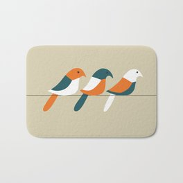 Birds on wire Bath Mat