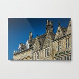 Antique Chimneys Cotswolds Market Square Skyline England Gloucestershire Metal Print
