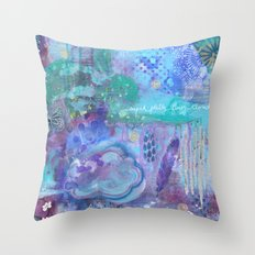 super pretty fluffy clouds Throw Pillow