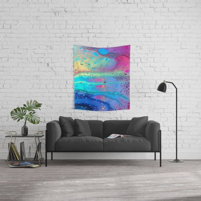 Neon Melt Wall Tapestry