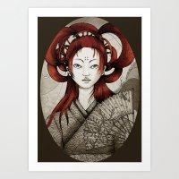 Japanese Postcard Art Print