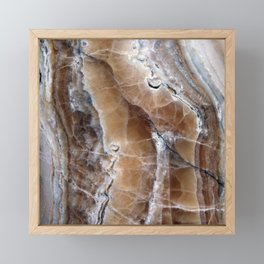 Marble Paint Formation Framed Mini Art Print