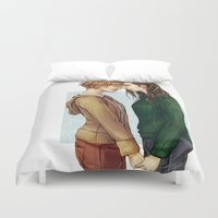 siren Duvet Covers featuring Fem!Siren by laya rose