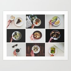 Morning stories - HANDS set Art Print