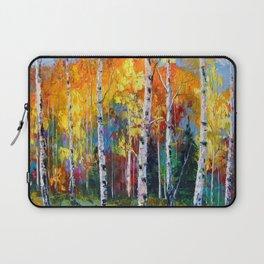 Autumn birches on the edge Laptop Sleeve