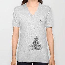 Castle of Dreams Unisex V-Neck