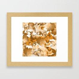 Watercolor Autumn Leaves 2 Framed Art Print