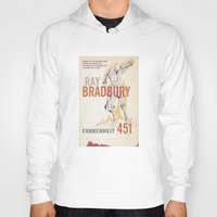 book cover Hoodies featuring Fahrenheit 451 Book Cover by proudcow