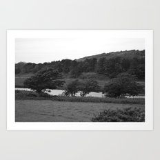 Windswept Countryside Art Print