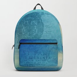 Decorative Blue Writing Texture Vintage Backpack