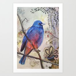 Just Be: Red-Bellied Bunting Art Print