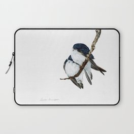 Togetherness - Tree Swallows by Teresa Thompson Laptop Sleeve