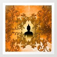 buddha Art Prints featuring Buddha  by nicky2342