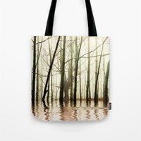 ghost Tote Bags featuring GHOST TREES by Catspaws