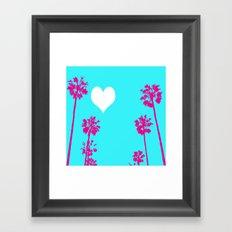 Palm Tree Love  Framed Art Print