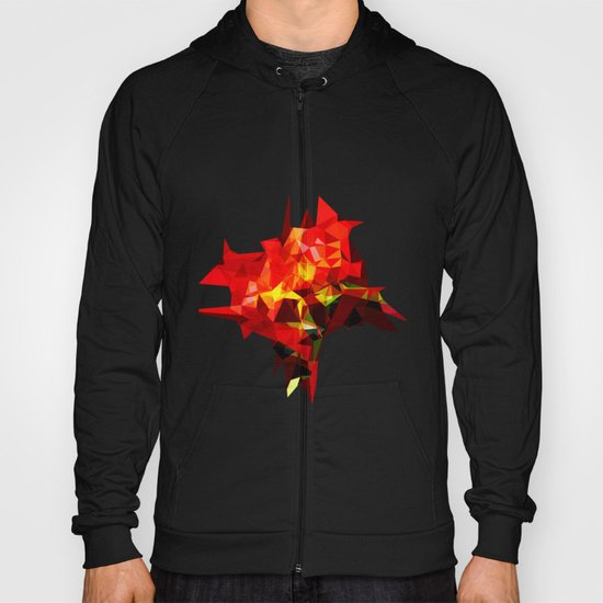 red polygone object Hoody